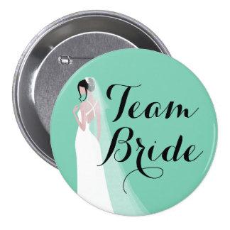 Team Bride Brunette Bride Button