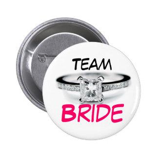 Team Bride Pinback Buttons