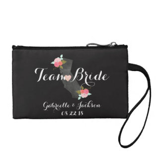 Team Bride California State Wedding Bridesmaid Coin Purse
