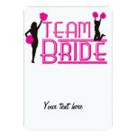 Team Bride - cheerleaders 5x7 Paper Invitation Card