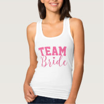 Team Bride Classy Pink Script Tank Top