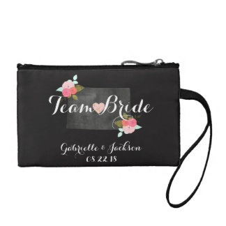 Team Bride Colorado State Wedding Bridesmaid Change Purse