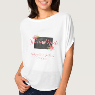 Team Bride Colorado State Wedding Bridesmaid T-Shirt