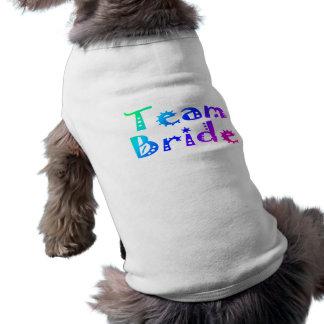 Team Bride (Colorful) Pet Tee Shirt