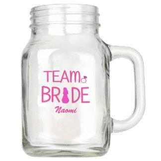Team Bride - Custom Bridesmaid Gifts Mason Jar