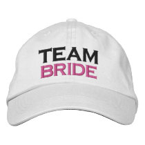 TEAM BRIDE Custom Name WHITE A07C7H Embroidered Baseball Hat