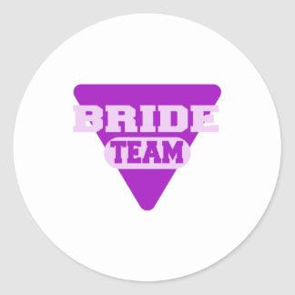 Team Bride design Classic Round Sticker