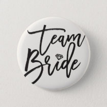 Team Bride Diamond Bridal Party Wedding Button
