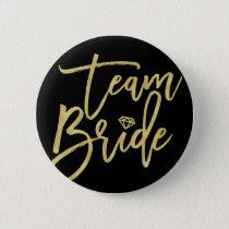 Team Bride Diamond Wedding Bridal Party Button
