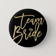 Team Bride Diamond Wedding Bridal Party Button at Zazzle