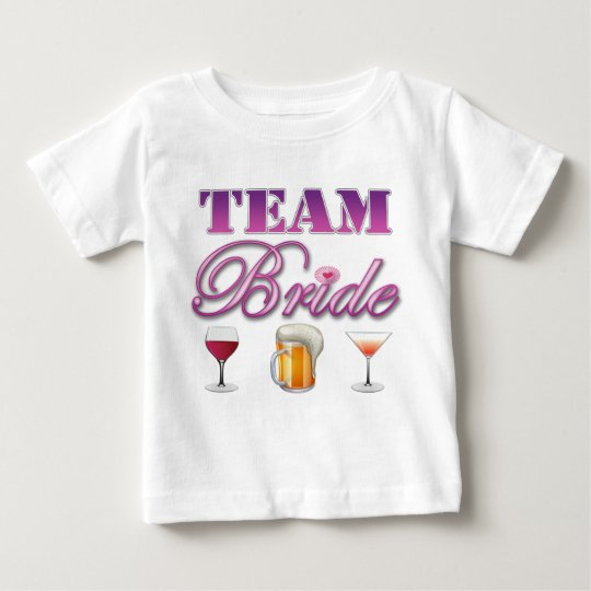 Team Bride Drinks Bridesmaids Wedding Bridal Party Baby T-Shirt