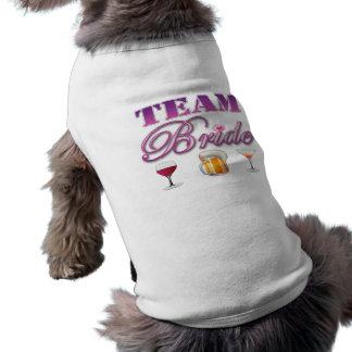 Team Bride Drinks Bridesmaids Wedding Bridal Party Doggie Tshirt