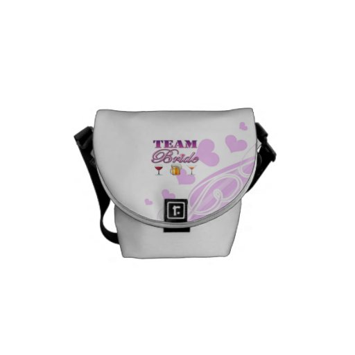 Team Bride Drinks Bridesmaids Wedding Bridal Party Courier Bags