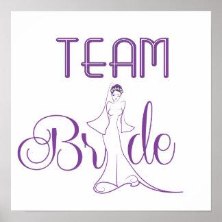 Team Bride - fancy Poster