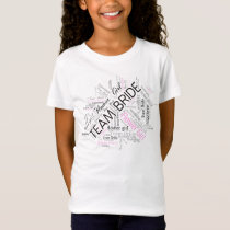 Team Bride Flower Girl Black ID256 T-Shirt