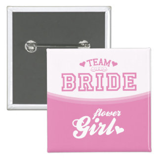 Team Bride Flower Girl Button
