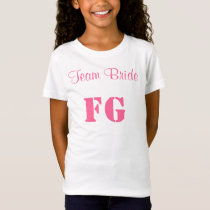 Team Bride Flower Girl Jersey Tee