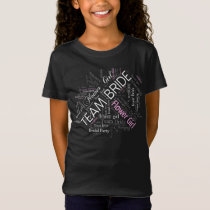 Team Bride Flower Girl White ID256 T-Shirt