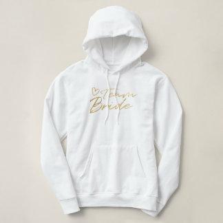 Team Bride - Gold faux foil hoodie