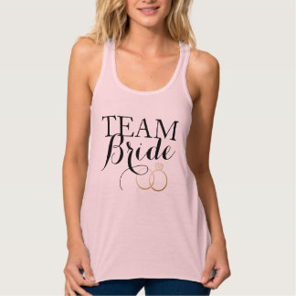 Team Bride Golden Rings Bachelorette Party Tank Top