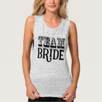 Team Bride Hand Lettered Black Ink Tank Top