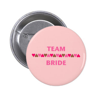 Team Bride (hearts) Pin