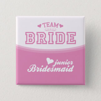 Team Bride Junior Bridesmaid Button