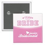 Team Bride Junior Bridesmaid Button