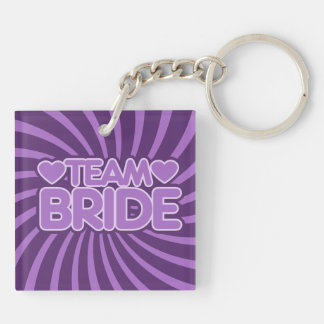 Team Bride Square Acrylic Keychains