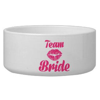 Team Bride kiss Pet Bowls
