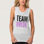 Team Bride Lilac Bachelorette Party Tank Top