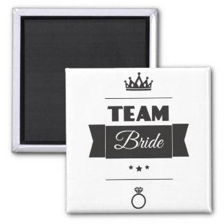 Team Bride 2 Inch Square Magnet