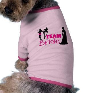 Team Bride - maid of honour Pet Tshirt
