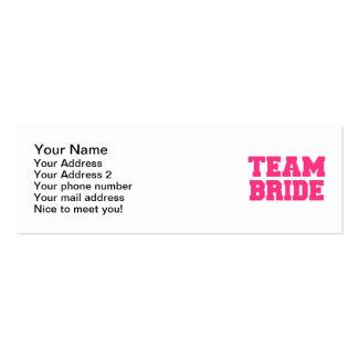Team Bride Mini Business Card