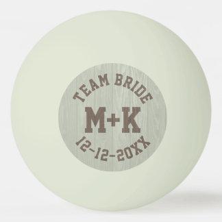 Team Bride Monogram Wedding Ping Pong Ball