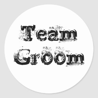 Team Bride or Groom Wedding Favour Vintage Rustic Classic Round Sticker