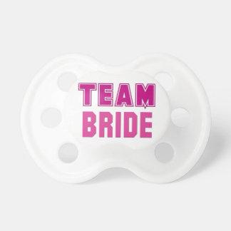 Team Bride Baby Pacifier