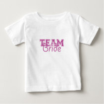Team Bride - Perfectly Plum Baby T-Shirt