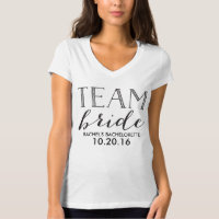 Team Bride Personalized Bachelorette Shirt