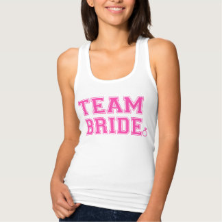 Team Bride Personalized front and back Name,Number Tank Top