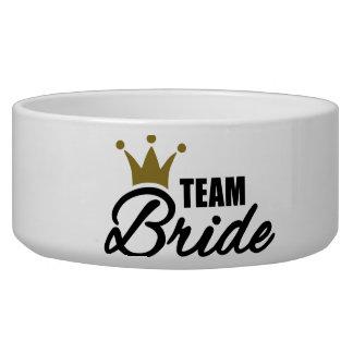 Team Bride Pet Food Bowls