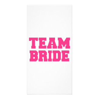 Team Bride Personalized Photo Card