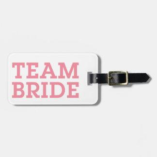 Team Bride Pink Bag Tag