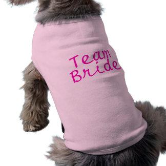 Team Bride Pink Doggie Tee