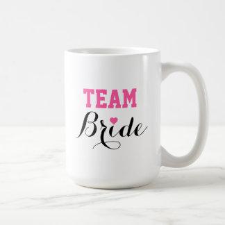Team Bride Pink Heart Coffee Jumbo Mug