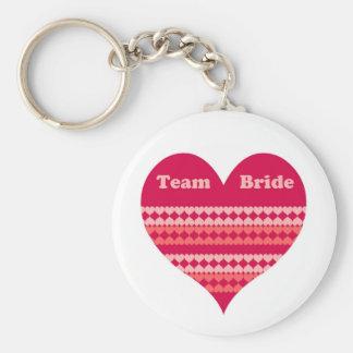 Team Bride (pink heart) Key Chain