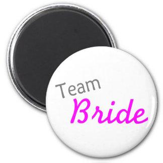 Team Bride (PInk) 2 Inch Round Magnet