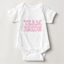 Team Bride Pink Outline Baby Bodysuit