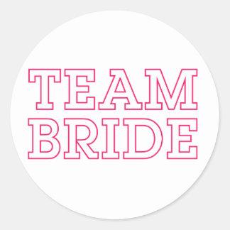 Team Bride Pink Outline Sticker