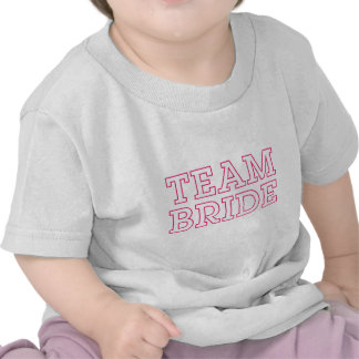 Team Bride Pink Outline Tshirts